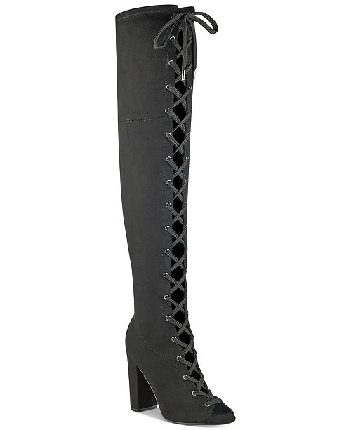 cdc98c99c6da GUESS Women s Casidi Lace-Up Over-The-Knee Boots   Reviews ...