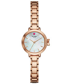 kate spade new york Women's Park Row Rose Gold-Tone Stainless Steel Bracelet Watch 24mm KSW1363