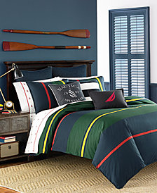 Nautica Heritage Classic Cotton 3-Pc. Stripe King Duvet Cover Set