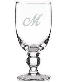 Lenox Tuscany Monogram All-Purpose Glasses, Set Of 4, Script Letters