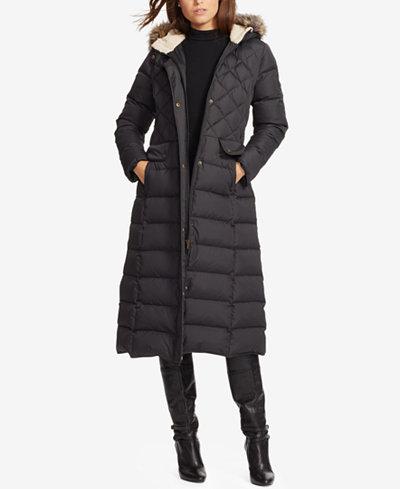 Lauren Ralph Lauren Hooded Maxi Down Jacket - Coats - Women - Macy's