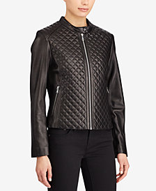 Lauren Ralph Lauren Quilted Leather Jacket