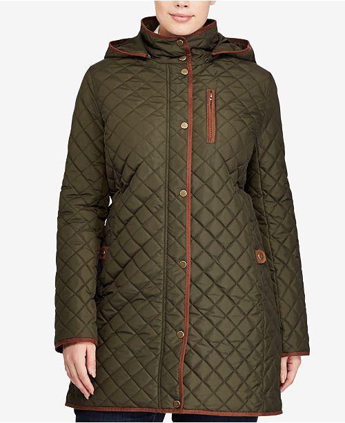 Lauren Ralph Lauren Plus Size Lightweight Quilted Jacket Coats