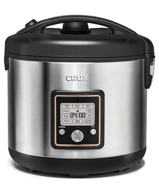 Crux 14651 20 Cup Fuzzy Logic Programmable Rice Cooker