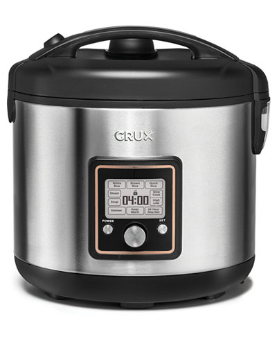 Crux 14651 20-Cup Fuzzy Logic Programmable Rice Cooker, Created for Macy's