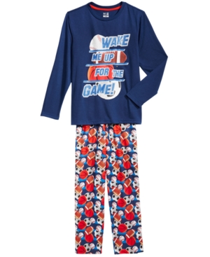 Max  Olivia 2Pc Wake Me Up For The Game Pajama Set Little Boys (47)  Big Boys (820) Created for Macys