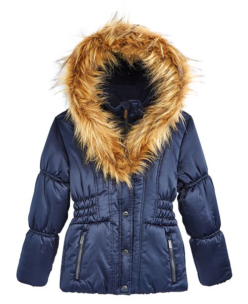 13a32c751305 S Rothschild   CO S. Rothschild Hooded Puffer Jacket With Faux-Fur ...