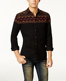 American Rag Men's Folk Geo-Print Shirt, Created for Macy's