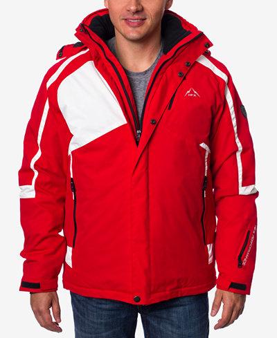 HFX Men's Colorblocked Hooded Ski Jacket - Coats & Jackets - Men ...