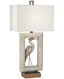 Pacific Coast Egret Table Lamp
