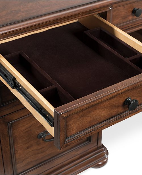 Macy S Desk: Furniture Clinton Hill Cherry Home Office Executive Desk
