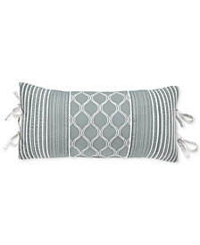 "CLOSEOUT! Croscill Eleyana 22"" x 11"" Boudoir Decorative Pillow"