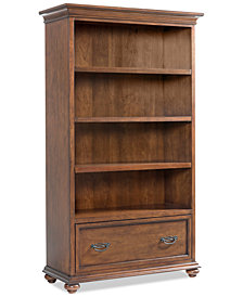 Clinton Hill Cherry Home Office Open Bookcase Created For Macys