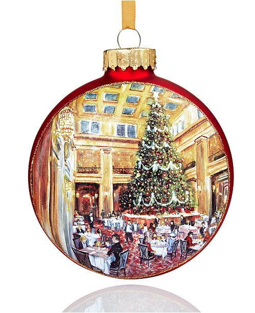 Holiday Lane 2018 Walnut Room Glass Ornament, Created for Macy's ...