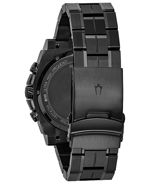 32c8c23c3 ... Bulova Men's Chronograph Precisionist Gray-Tone Stainless Steel  Bracelet Watch 47mm 98B229 ...