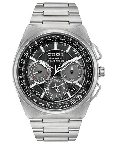 Citizen Eco-Drive Men's Chronograph Satellite Wave Titanium Bracelet Watch 45mm