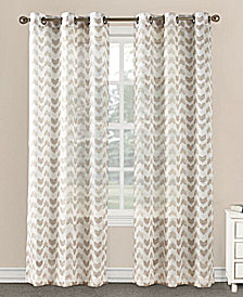 """Lichtenberg No. 918 Tallulah 40"""" x 84"""" Split Chevron Sheer Grommet Curtain Panel"""