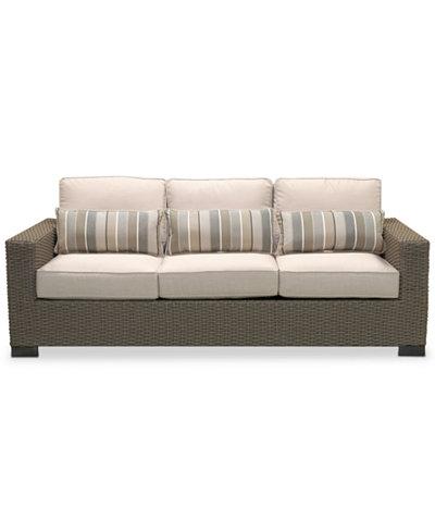 Del Mar Wicker Outdoor Sofa, Created for Macy's