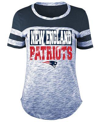 5th & Ocean Women's New England Patriots Space Dye Foil T-Shirt