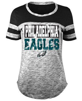 5th & Ocean Women's Philadelphia Eagles Space Dye Foil T-Shirt
