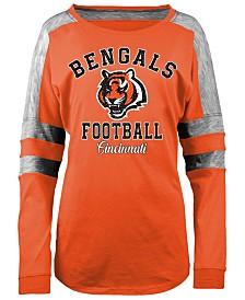 5th & Ocean Women's Cincinnati Bengals Space Dye Long Sleeve T-Shirt