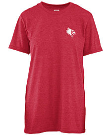 Pressbox Women's Louisville Cardinals Boho Arrow Melange T-Shirt