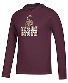 adidas Men's Texas State Bobcats Mark My Words Long Sleeve Hooded T-Shirt