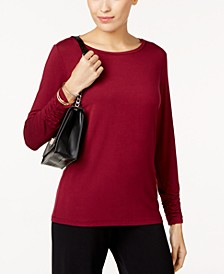 Long-Sleeve Ruched Top, Created for Macy's