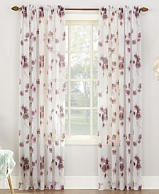 "Bimini Textured Floral 51"" x 95"" Sheer Curtain Panel"