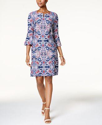 Charter Club Petite Printed Sheath Dress, Created for Macy's