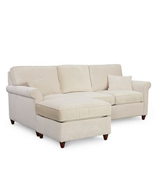 Furniture Lidia 82 Fabric 2 Pc Reversible Chaise Sectional Sofa