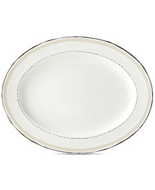 kate spade new york Union Square Taupe Platter