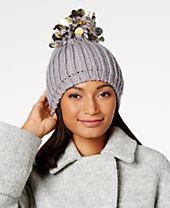 INC International Concepts Paillette Pom-Pom Beanie, Created for Macy's