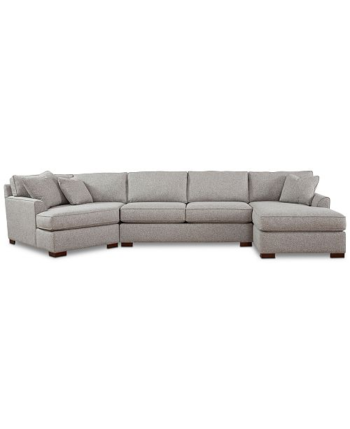 Tremendous Carena 162 3 Pc Fabric Sectional Sofa With Cuddler Chaise Created For Macys Ibusinesslaw Wood Chair Design Ideas Ibusinesslaworg