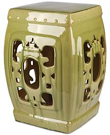 Serena Ceramic Garden Stool, Quick Ship