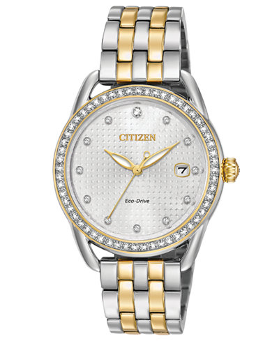 Citizen Drive from Citizen Eco-Drive Women's Two-Tone Stainless Steel Bracelet Watch 37mm