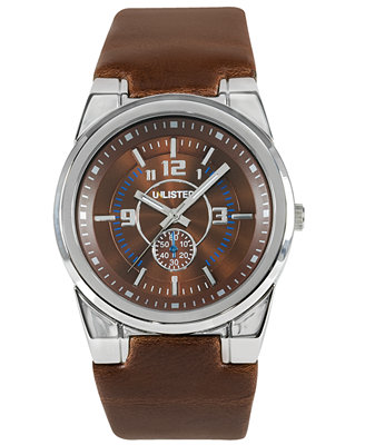 unlisted s brown leather ul1131 watches
