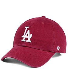 Los Angeles Dodgers Cardinal and White CLEAN UP Cap