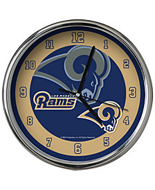 Memory Company Los Angeles Rams Chrome Clock II