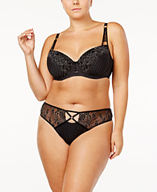 Ashley Graham Lingerie Showstopper Plus Size Lace Bra & Thong