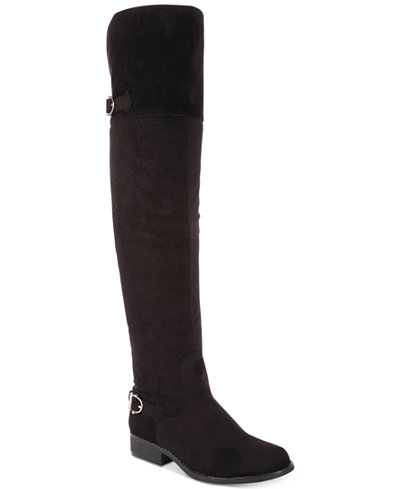 American Rag Adarra Wide-Calf Over-The-Knee Boots, Created for Macy's