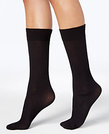 Women's 2 Pack Ribbed Opaque Knee-High Socks