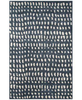 """Novogratz by Momeni Delmar DEL11 Blue 3' 6"""" x 5' 6"""" Area Rug"""