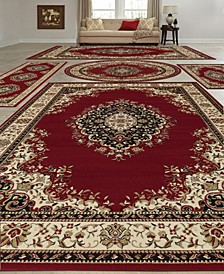 Vienna Kerman Red 5-Pc. Rug Set