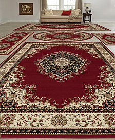 KM Home Vienna Kerman Red 5-Pc. Rug Set