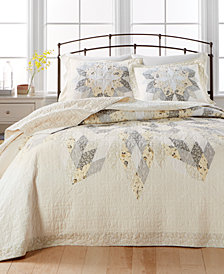 Martha Stewart Collection Starburst Queen Bedspread, Created for Macy's