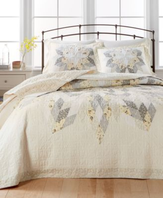 Charming Martha Stewart Collection Starburst Twin Bedspread, Created For Macyu0027s