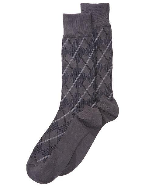 Perry Ellis Men's Printed Dress Socks