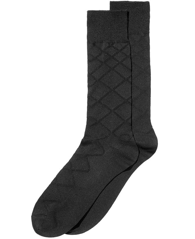 Perry Ellis Men's Luxury Textured Socks