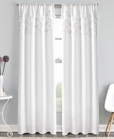 Chevron Ruffle Rod Pocket Window Panel Collection